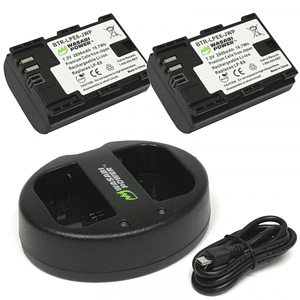 Wasabi Power LP-E6 Kit de Baterías y Cargador para Canon / KIT-BB-LPE6
