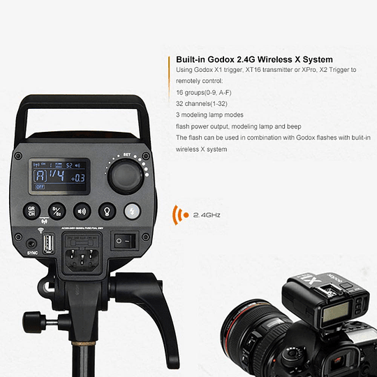 GODOX  MS300-D KIT FLASH DE ESTUDIO - Image 4