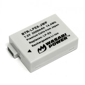 Wasabi Power BTR-LPE8-JWP Batería LP-E8 para CANON