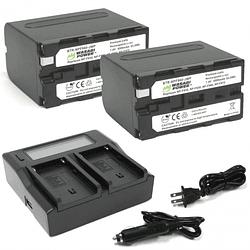 Wasabi Power NPF960 Kit de Baterías y Cargador para Sony / KIT-BB-NPF960