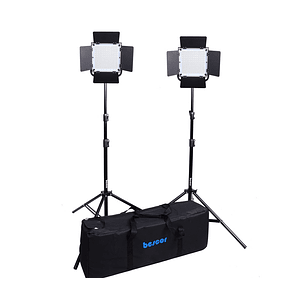 Bescor FP-576K Bi-Color Kit Control inalámbrico LED Studio