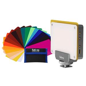Selens TSSL02 AL -LED CRI >95 Ultra Portatil Magnético + Kit con 20 Filtros de Gel