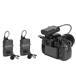 BOYA BY-WM4 PRO-K2 Sistema de Micrófonos Inalámbrico Doble para Cámaras y Smartphone