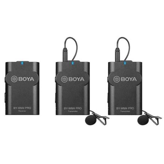 BOYA BY-WM4 PRO-K2 Sistema de Micrófonos Inalámbrico Doble para Cámaras y Smartphone - Image 2