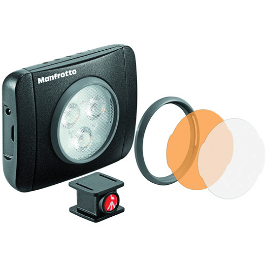 Manfrotto Lumie Play On-Camera LED 3  Light (Black) - Image 1