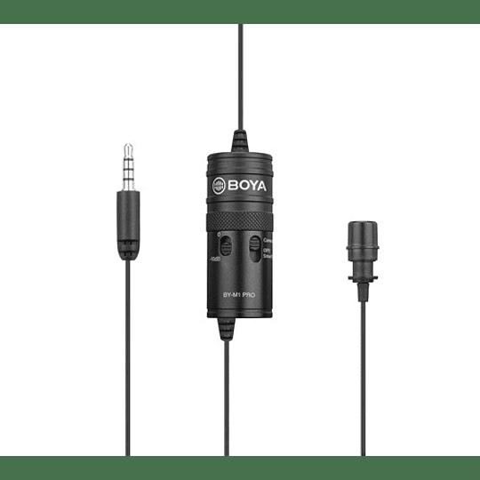 Boya BY-M1-PRO Microfono Lavalier Universal con Monitoreo - Image 1