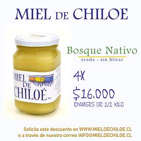4x Miel de Bosque Nativo 500gr