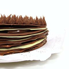 Torta de láminas de chocolate belga (a pedido)*