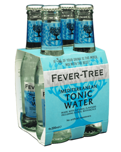Fever Tree Mediterranean Tonic – Pack 4 botellas de 200 ml.