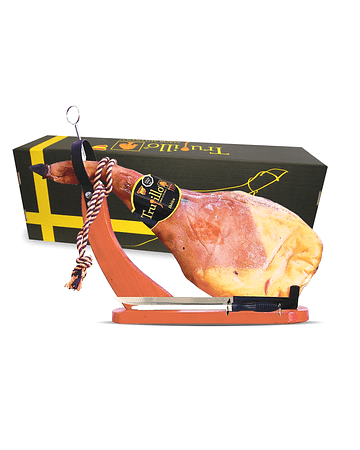 Caja Paleta Ibérica de Bellota D.O. Jabugo Trujillo Et. Negra (4,5 kg. aprox.) + atril y cuchillo