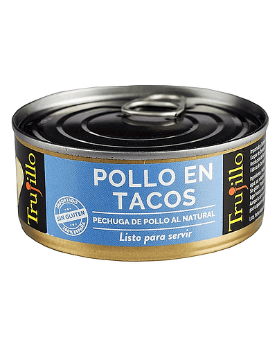 Pollo en Tacos al Natural - Lata 100 g. escurrido