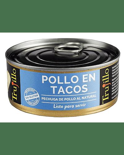 Pollo en Tacos Trujillo al natural- Lata 100 g. escurrido
