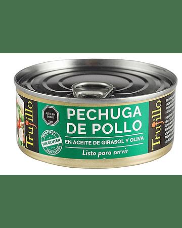 Pechuga de Pollo en aceite de oliva y girasol - Lata 100 g. escurrido