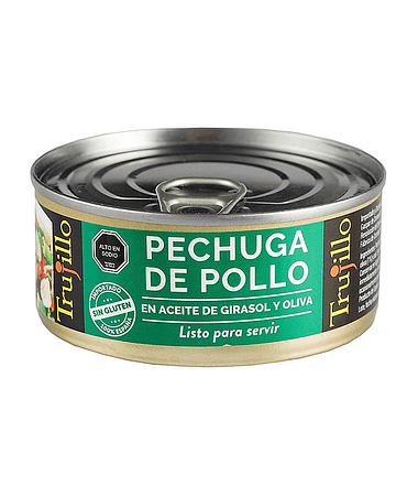 Pechuga de Pollo Trujillo en aceite de oliva y girasol - Lata 100 g. escurrido