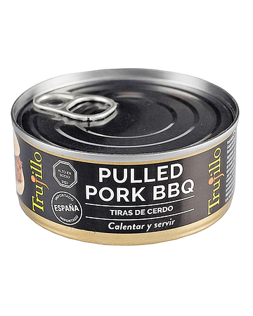 Pulled Pork BBQ Trujillo tiras de cerdo - Lata 150 g.