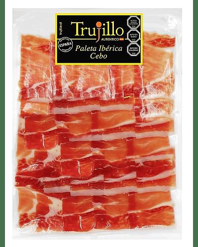 Paleta Ibérica de Cebo Trujillo Et. Negra - como cortado a cuchillo 70 g.