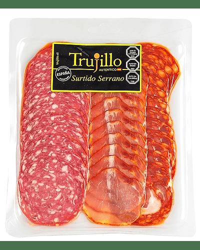 Surtido Serrano Trujillo - 120 g. (Chorizo Vela, Salchichón Vela, Lomo Embuchado).