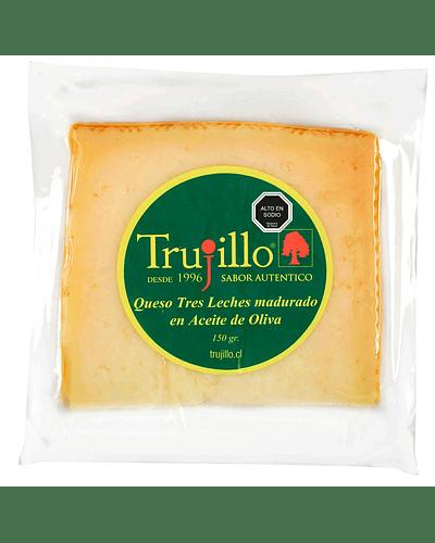 Queso Tres Leches madurado en aceite de oliva Trujillo - Cuña 150 g.