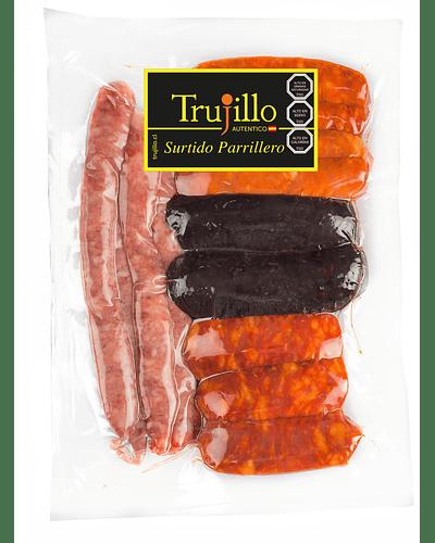 Surtido Parrillero Trujillo - 1 kg. (Chorizo Riojano, Butifarreta, Morcilla de Arroz)