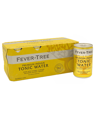 Fever Tree Indian Tonic - Pack 8 latas de 150 ml.