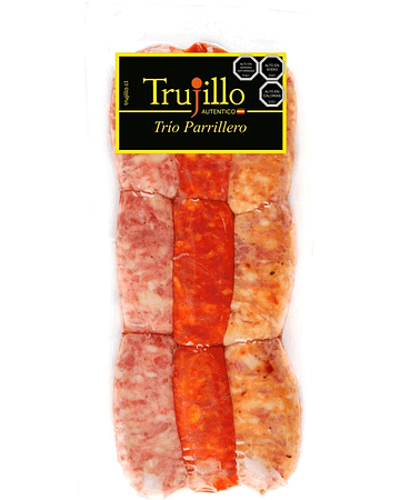 Trio Parrillero Trujillo - 400 g. (Chorizo Criollo, Chorizo Riojano, Longaniza Parrillera)