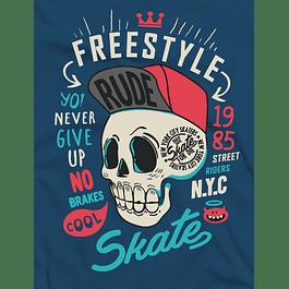 Skater Skull Rude