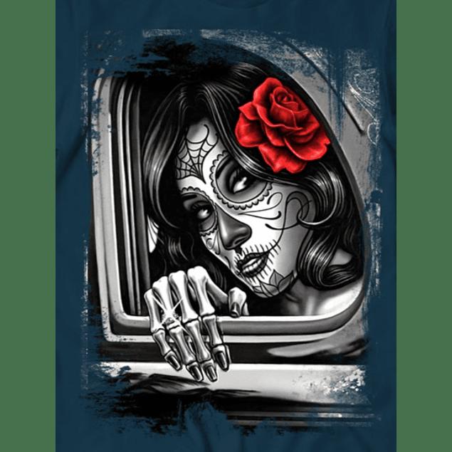 Girl Window Rose