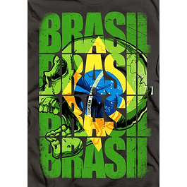 Brasil Skull Flag