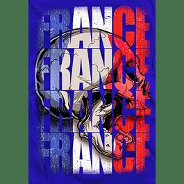 France Skull Flag