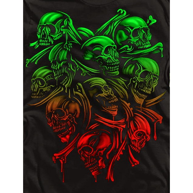 Skulls Red and Green