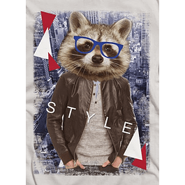 Raccoon Hipster Man