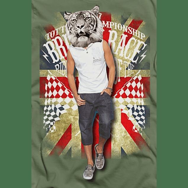Hipster Tiger Head