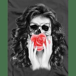 Skull Rose Face