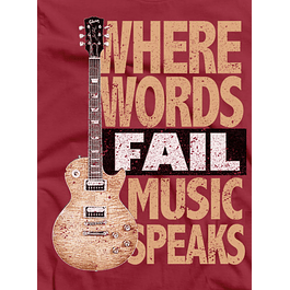 Words Fail Music Speaks
