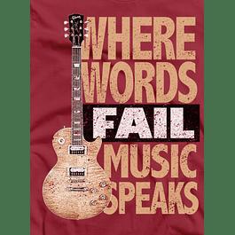 Words Fail Music Speaks