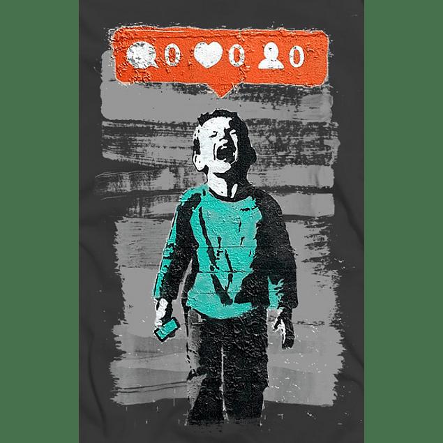 Crying boy Banksy