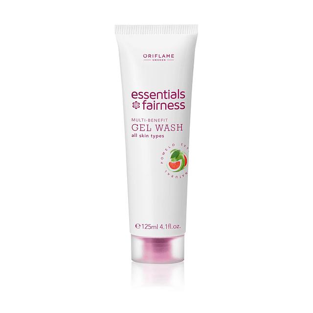 Gel limpiador aclarador piel Essentials Fairness gel wash blanqueador