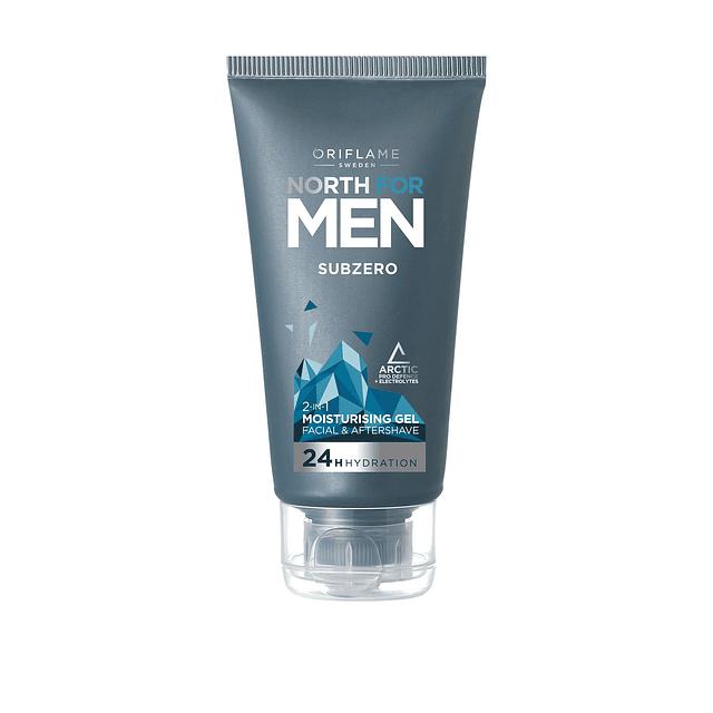 Gel crema hidratante north for men antioxidante rostro hombre oriflame