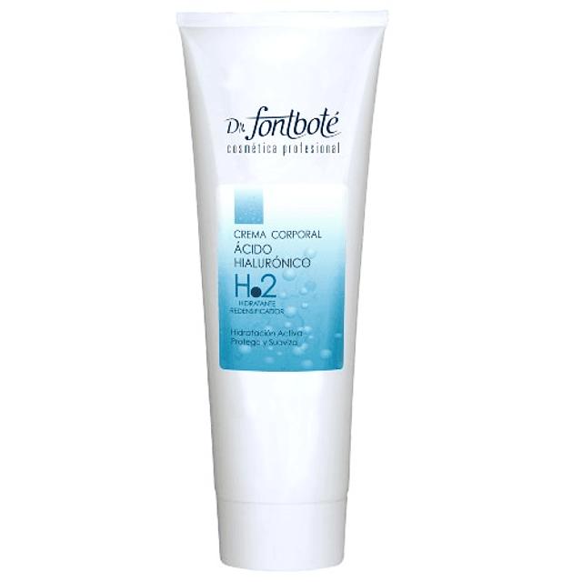 Crema acido hialurónico reafirmante tensor corporal Fontboté arrugas
