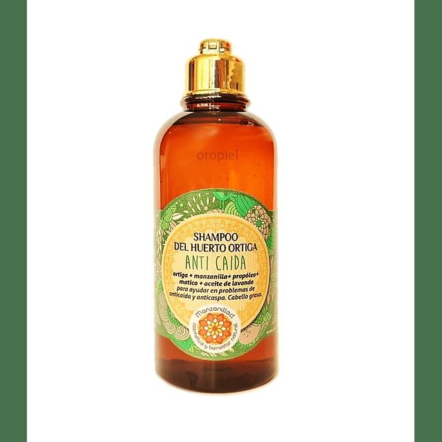 Shampoo ortiga natural concentrado caida cabello graso anticaspa