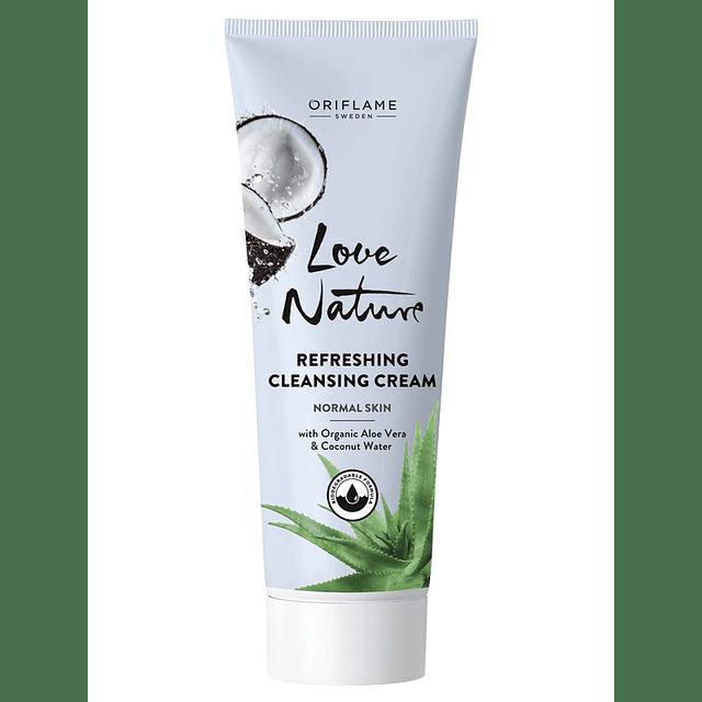 Limpiadora facial gel aloe vera y agua de coco natural oriflame