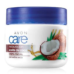 Crema facial nutritiva aceite coco antiedad piel seca  avon care