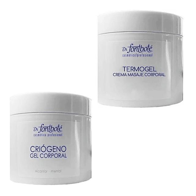 Set gel criogeno + termogel reductor corporal Dr. Fontboté pack