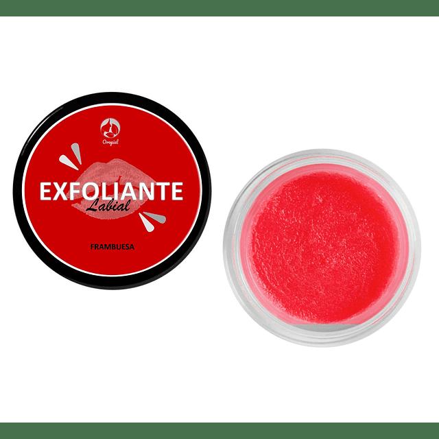 Exfoliante labial frambuesa natural renueva piel seca labios agrietados chile