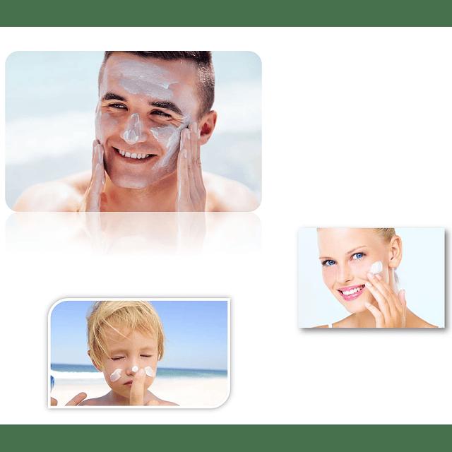 Bloqueador solar natural blanqueador manchas y matificante piel