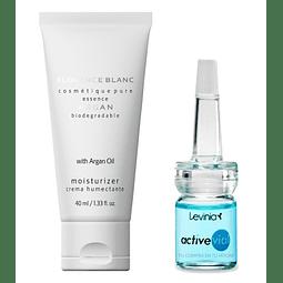 Argan nourishing cream + active hyaluronic acid Serum vial levinia
