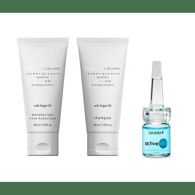 Nourishing argan cream + shampoo + anti-aging hyaluronic acid serum