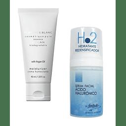 Crema hidratante argán + Serum ácido hialurónico Fontboté antiage