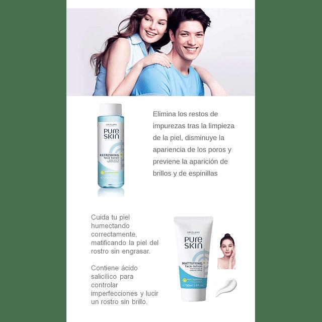 Tonic + Cream pure skin oriflame chili mattifying anti-grease face