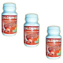 Calcium D3 calcio huesos fuertes granulado sabor chocolate set 3